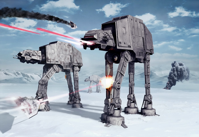 Imperial At At Star Wars Wall Mural