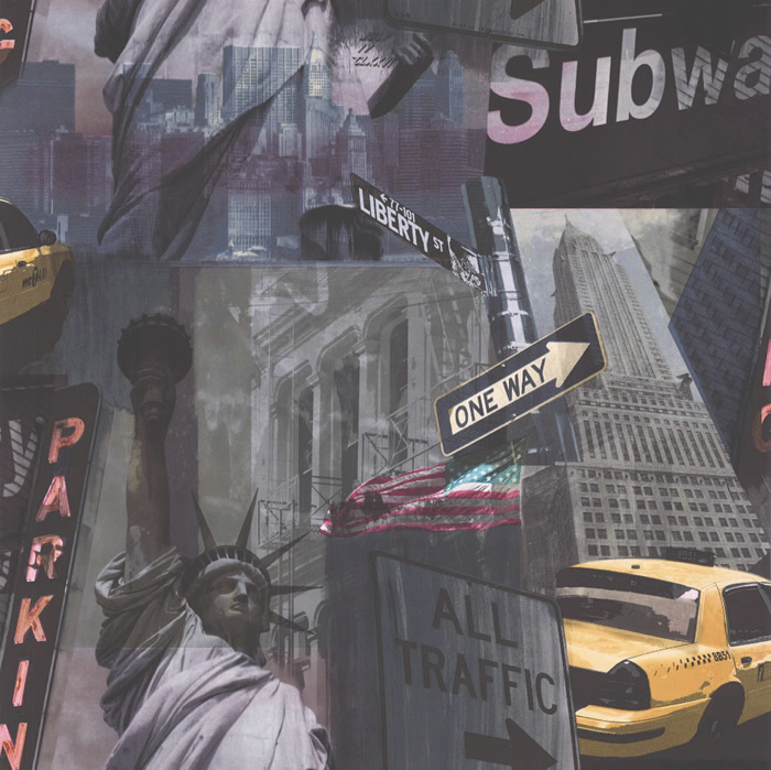 STOCKED NYC WALLPAPER