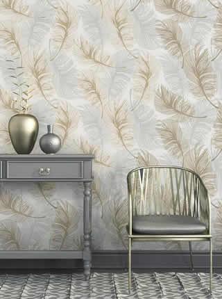 stocked metallic wallpaper